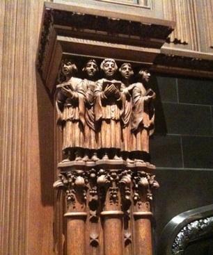 Kohl Mansion fireplace detail