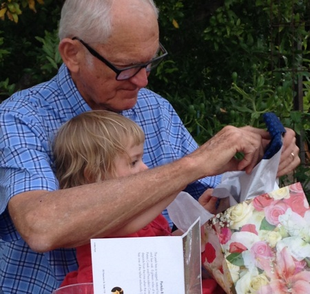 Erwin Frech Jr and great granddaughter- by A. Broner