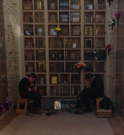two guitarists at Ghost Ship Memorial