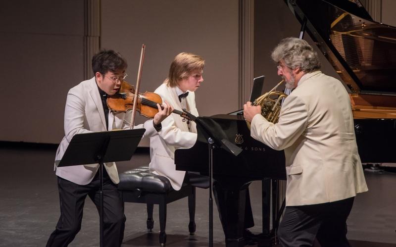 Paul Huang, Juho Pohjonen, and Radovan Vlatkovic, photo by Carlin Ma
