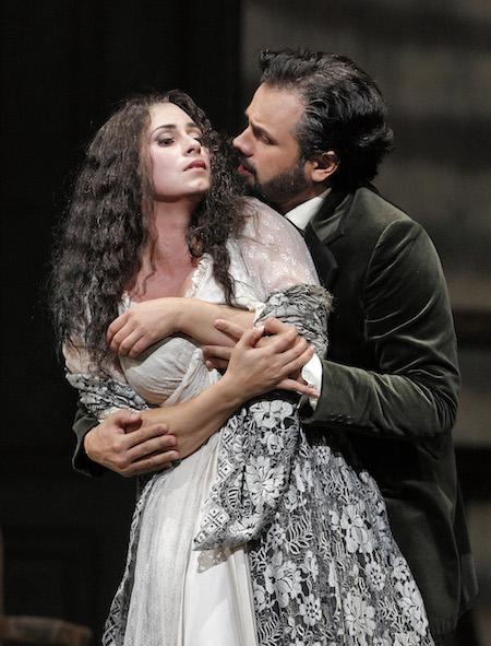 Aurelia Florian and Atalla Ryan in La Traviata-photo by Cory Weaver