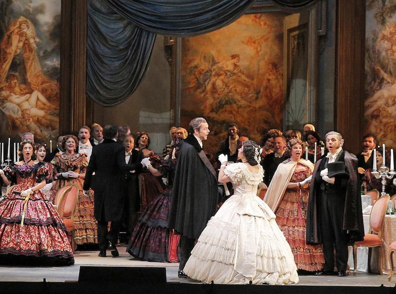 Aurelia Florian and company in La Traviata-photo by Cory Weaver